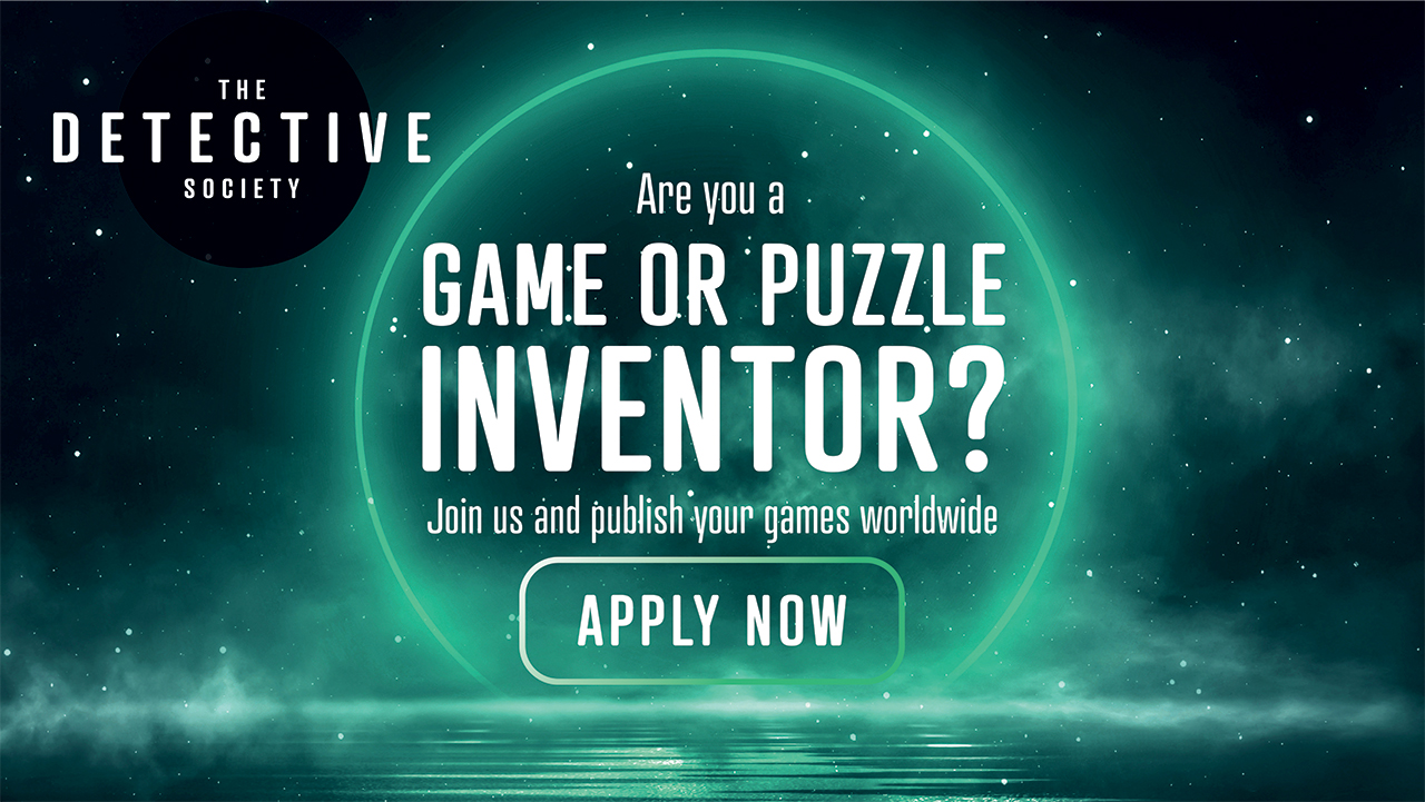 """Starry sky with text over the top """"Are you a game or puzzle inventor?"""""""
